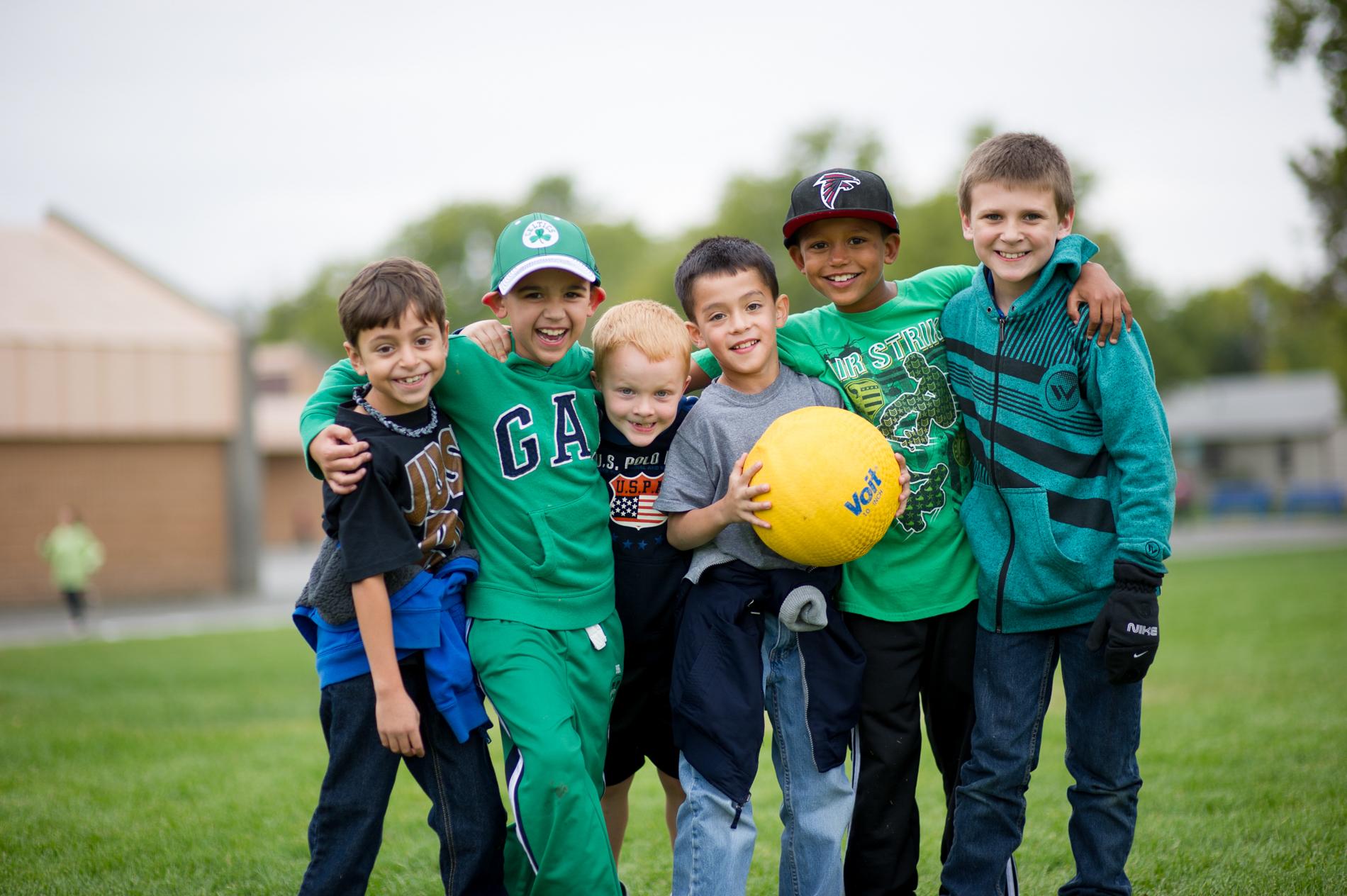 Boys on a Playground