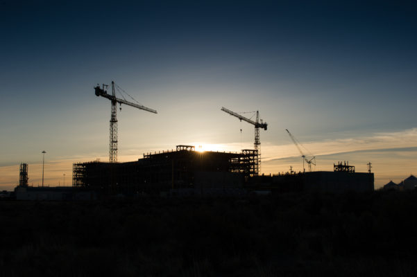 Exterior of the largest government construction project in the US being build by Bechtel.