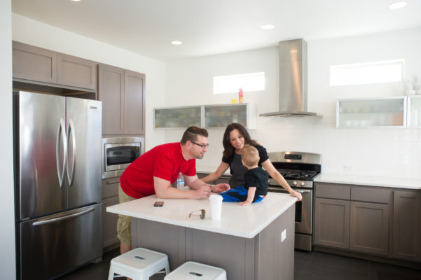 Real Estate photography for Plastolux Modern featuring the family that lives there.