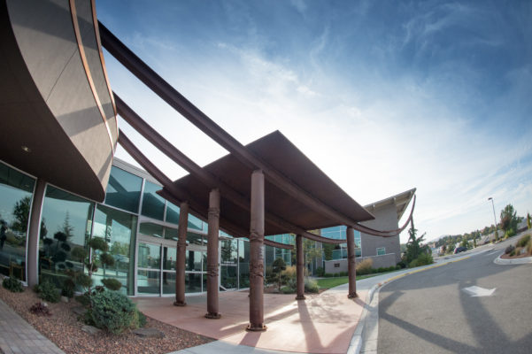Exterior photo of the Tri-Cities Cancer Center shot for TCCC for new marketing materials.