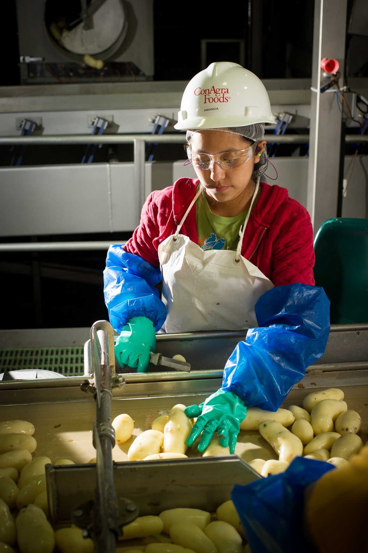 Trim Line Worker Portrait