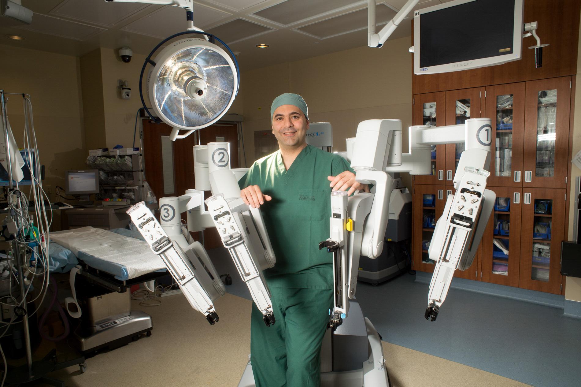 Doctor with DaVinci Robot