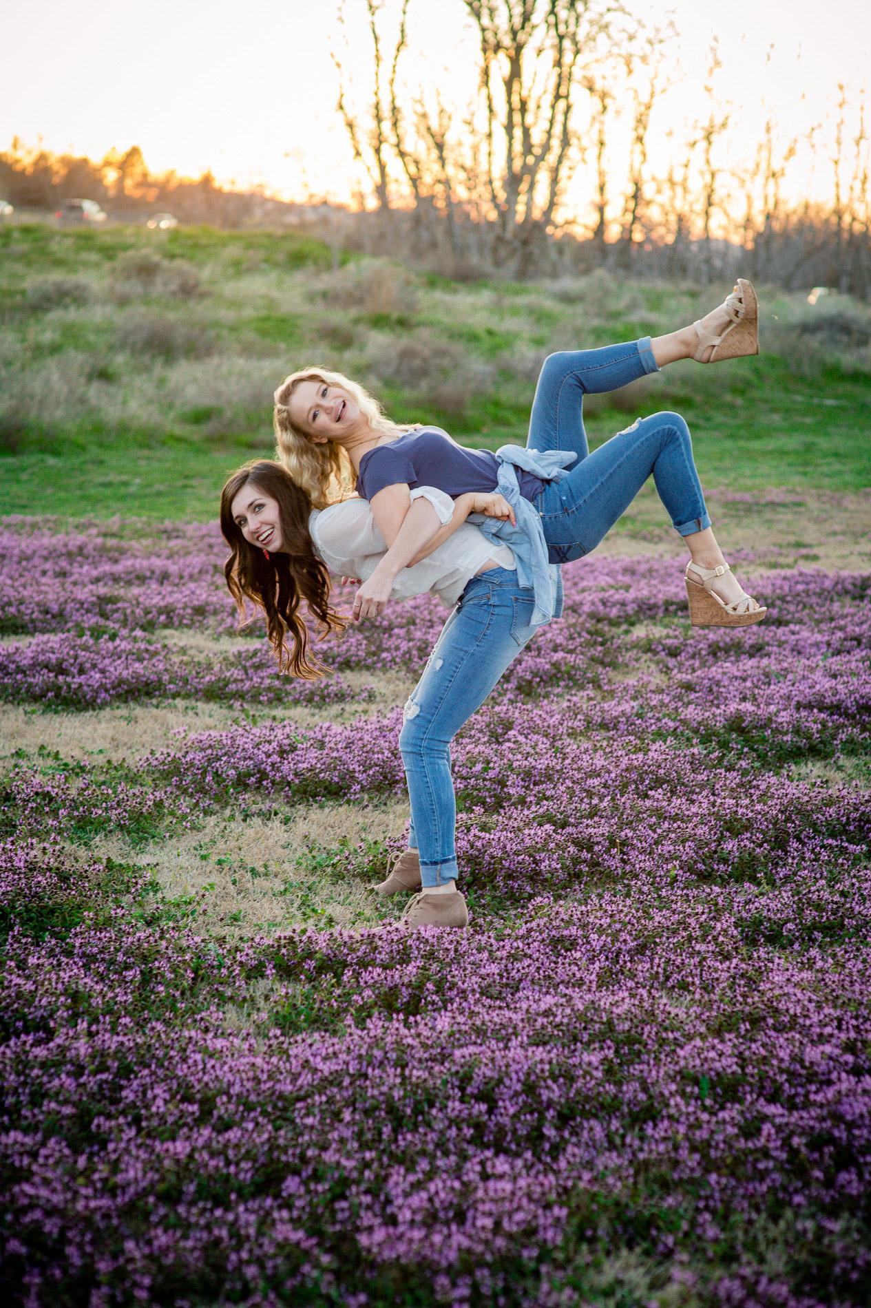 Girls in a Field of Purple
