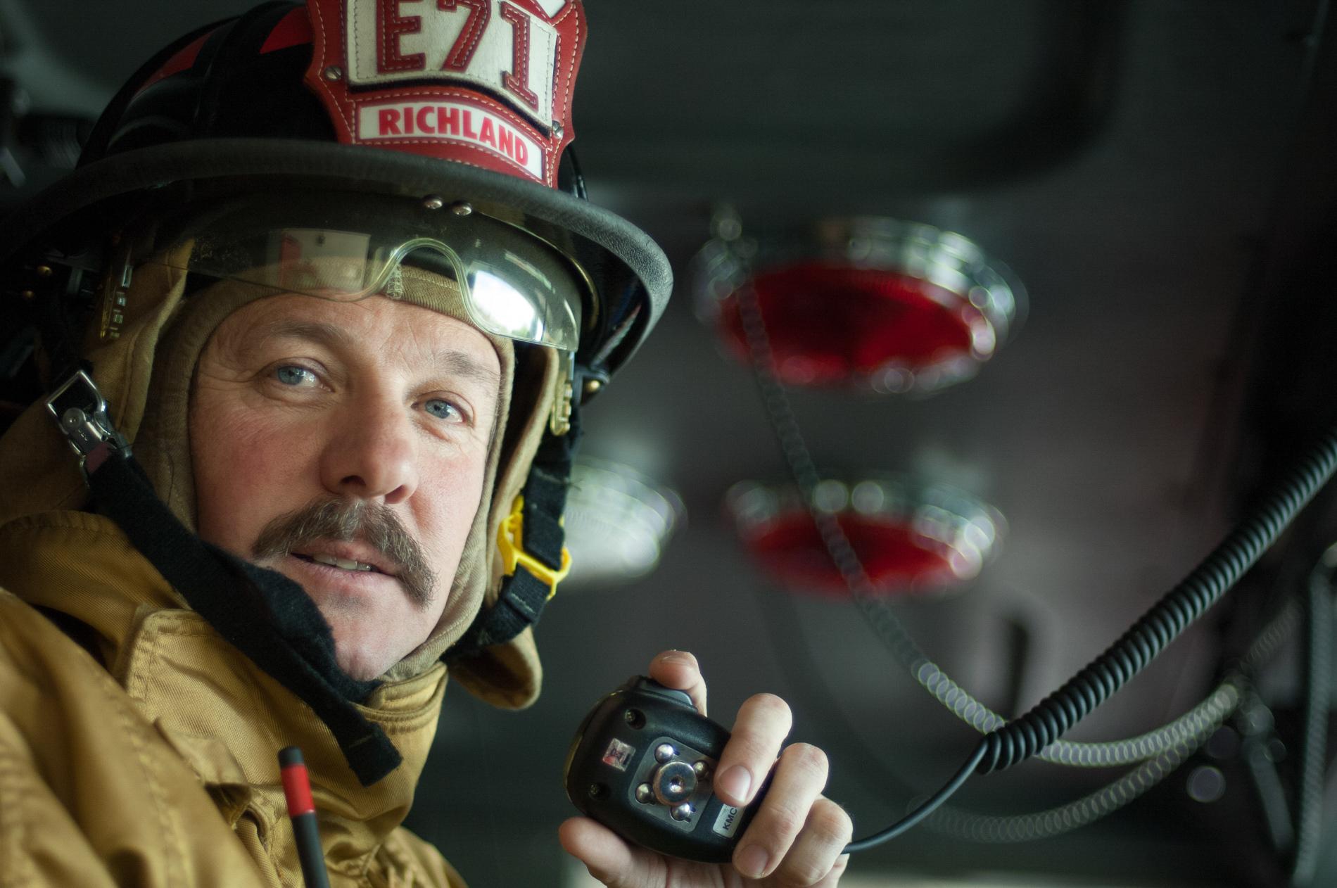 Firefighter Environmental Portrait
