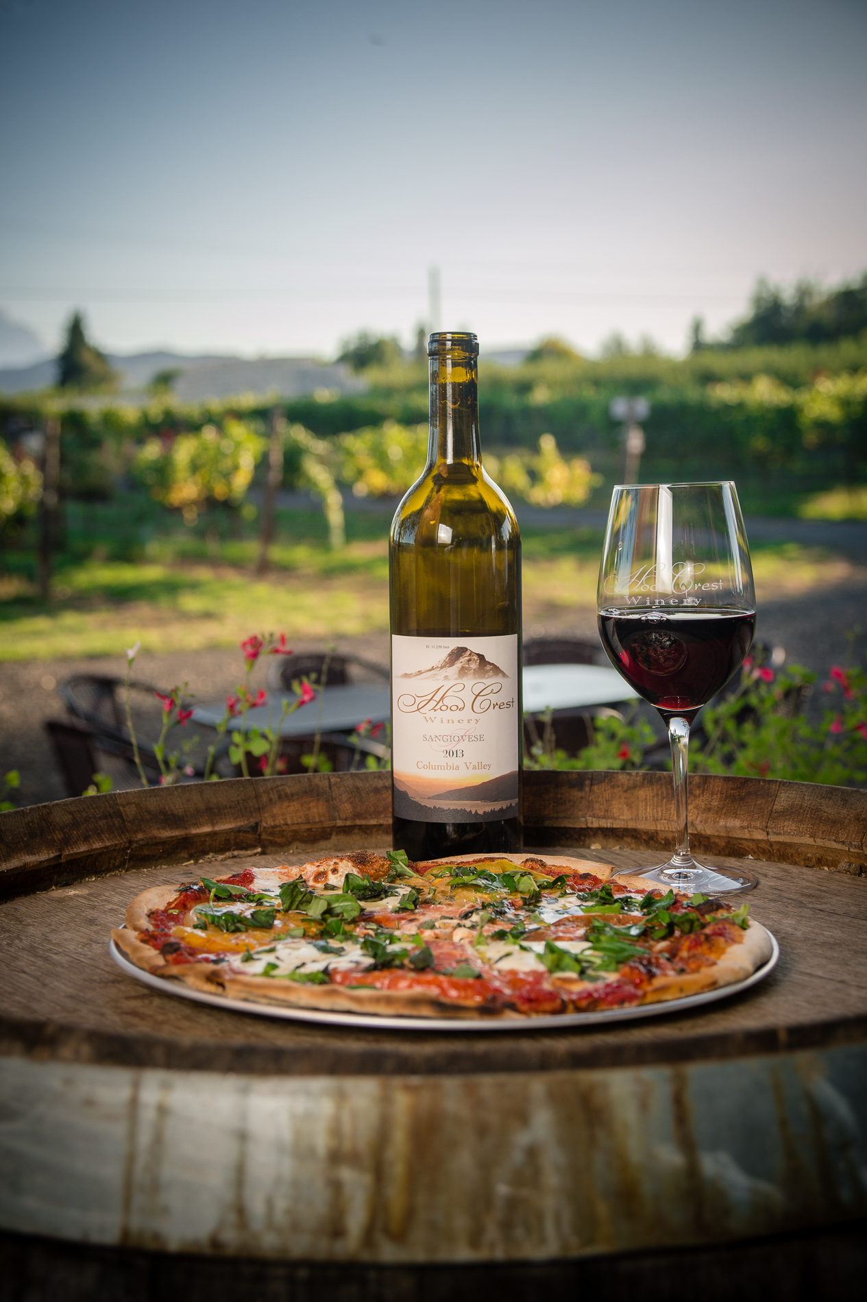 Pizza with Wine