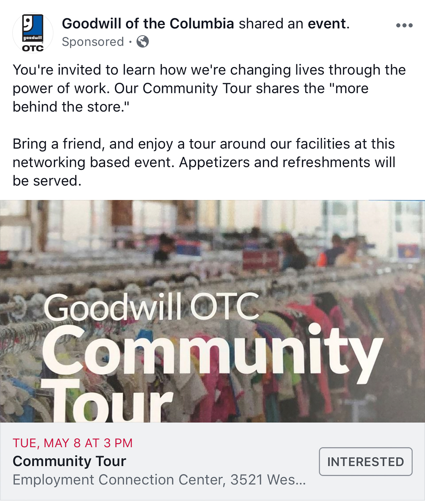 Goodwill Social Media Feature