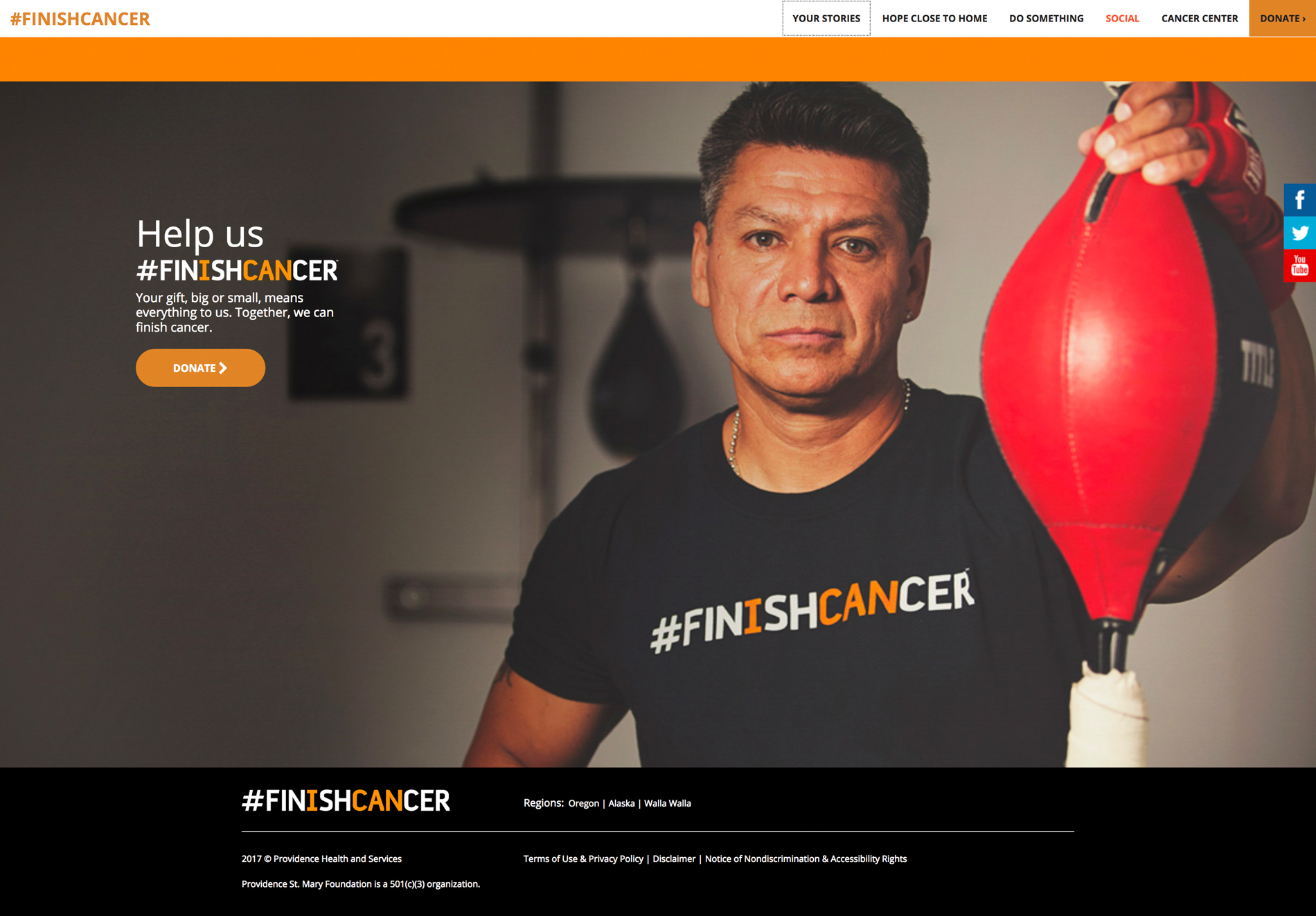 #finishcancer campaign
