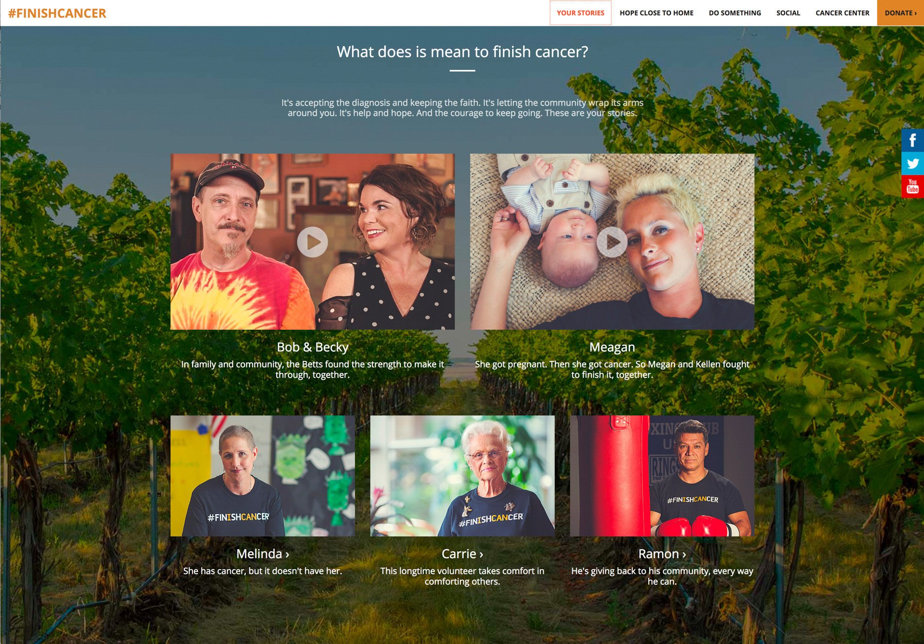 Finish Cancer Campaign Website