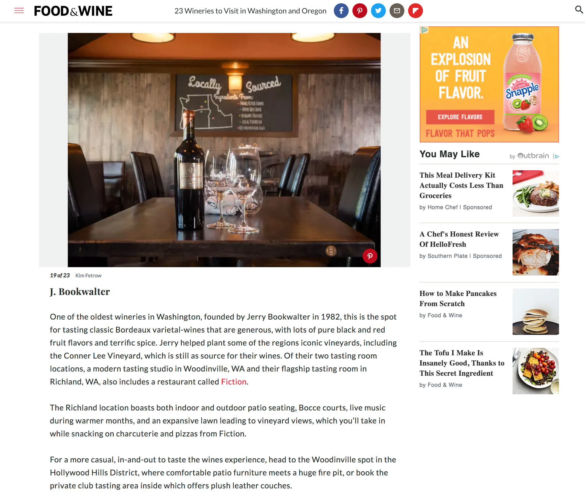 Food & Wine Feature