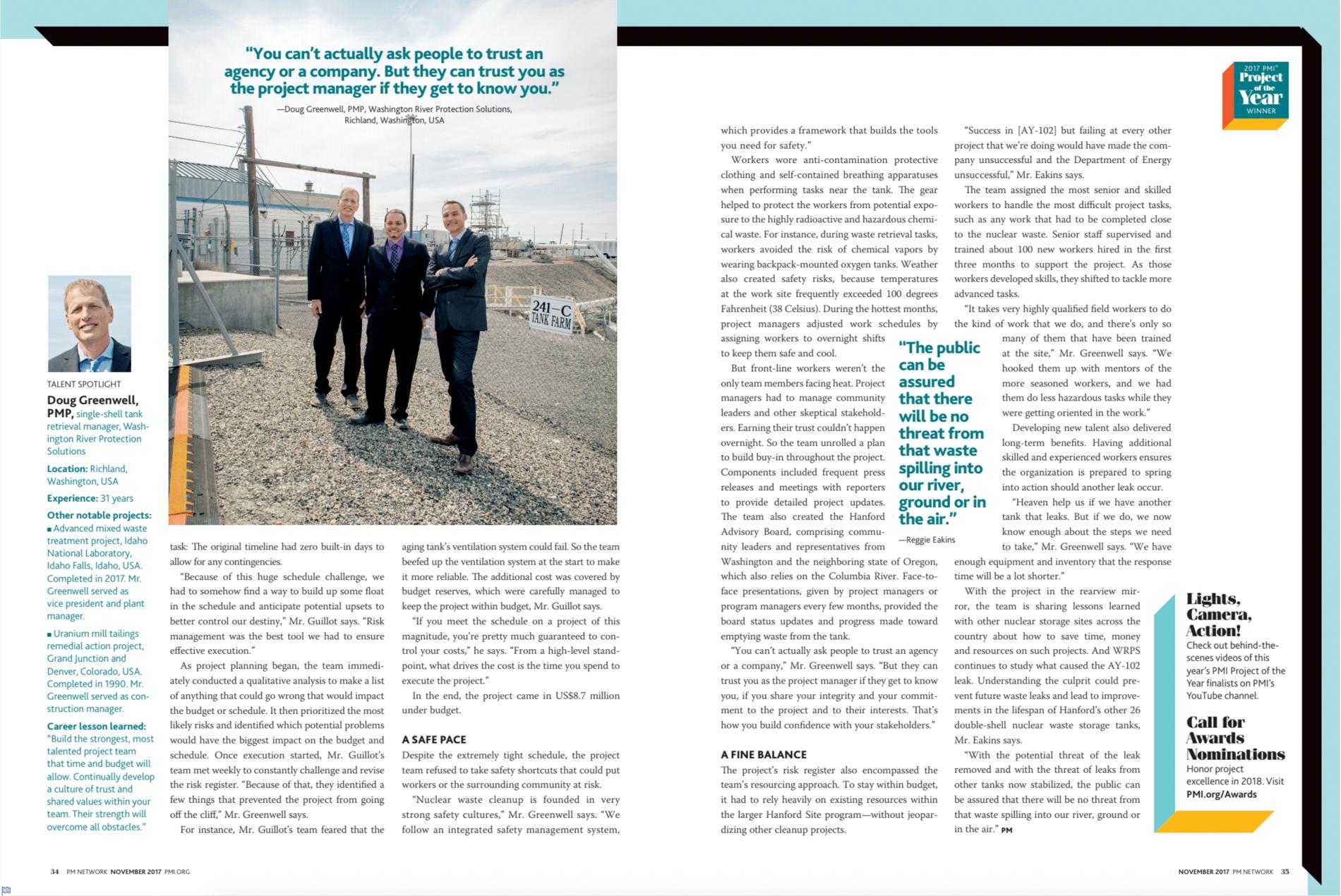PMI Magazine Feature