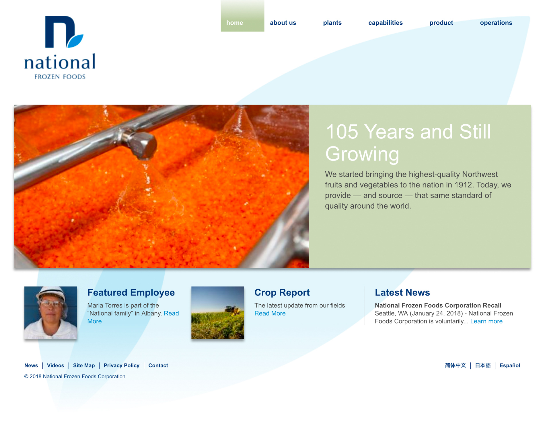 National Frozen Foods Website