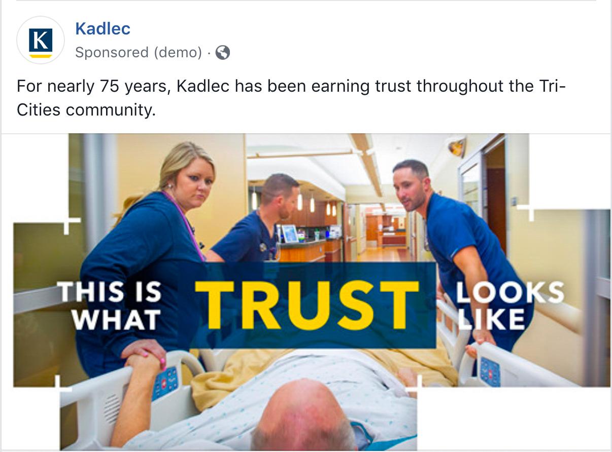 Kadlec Trust Ad