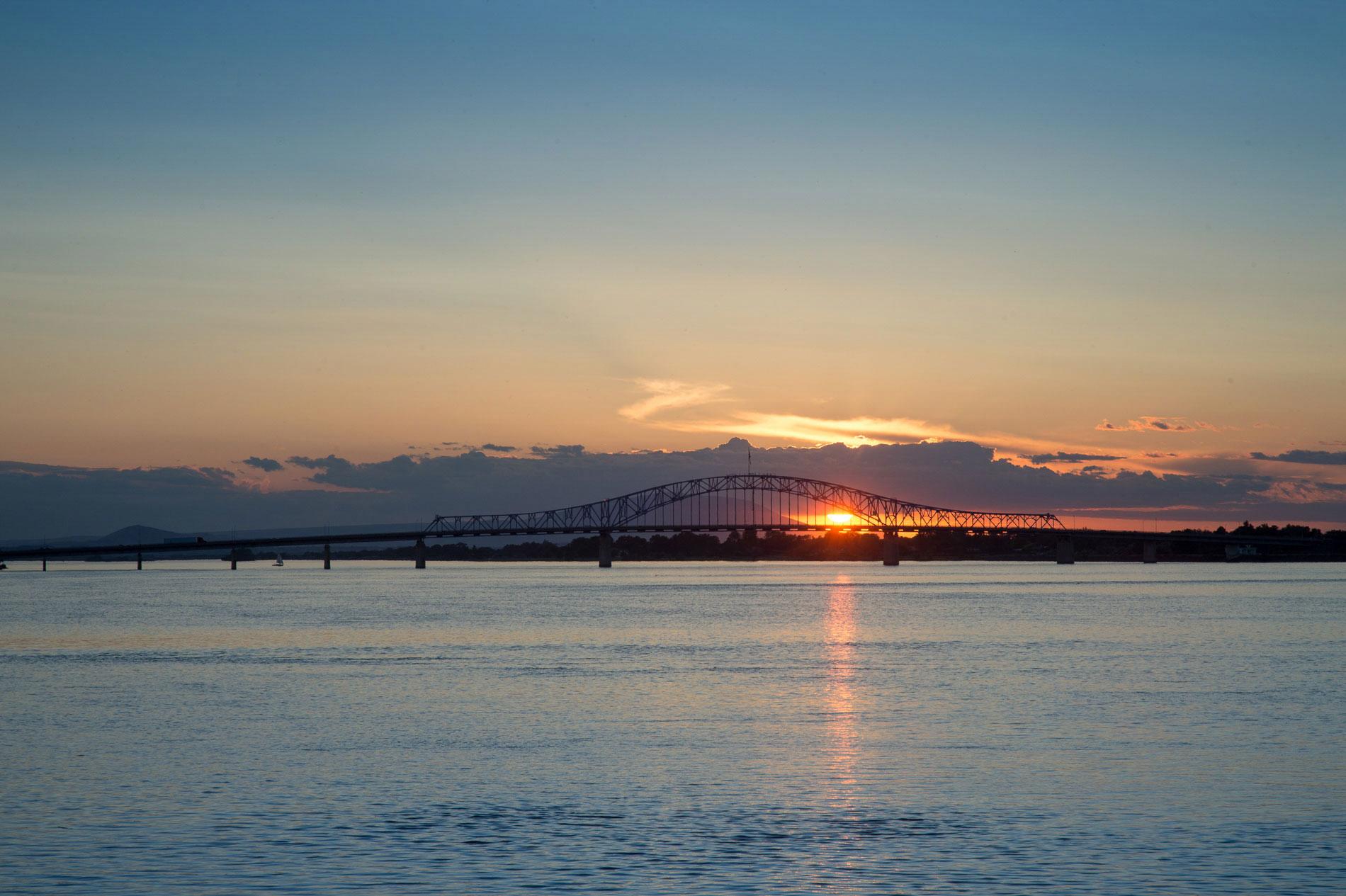 Blue Bridge at Sunset