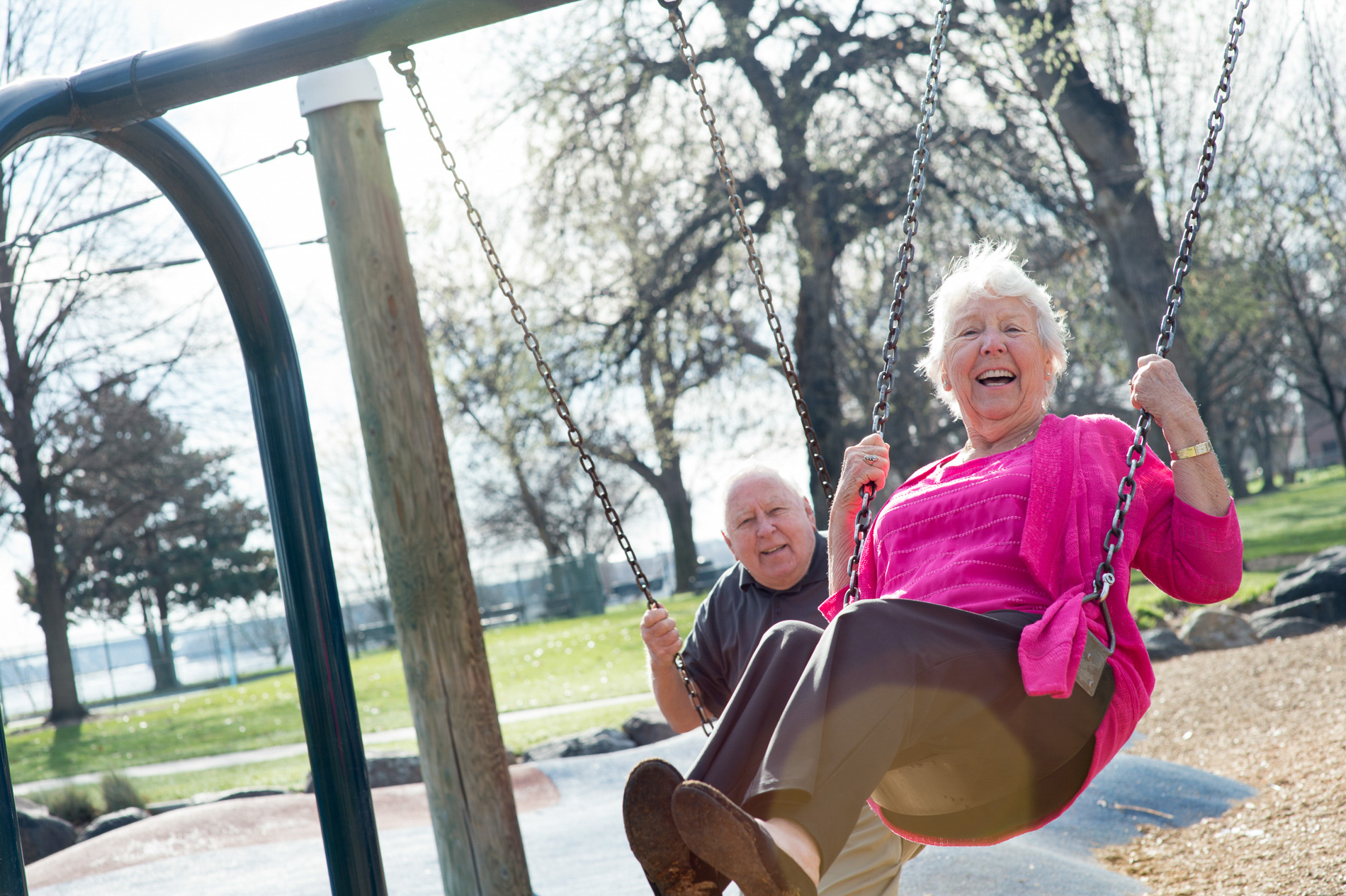 Never Too Old to Play at the Park