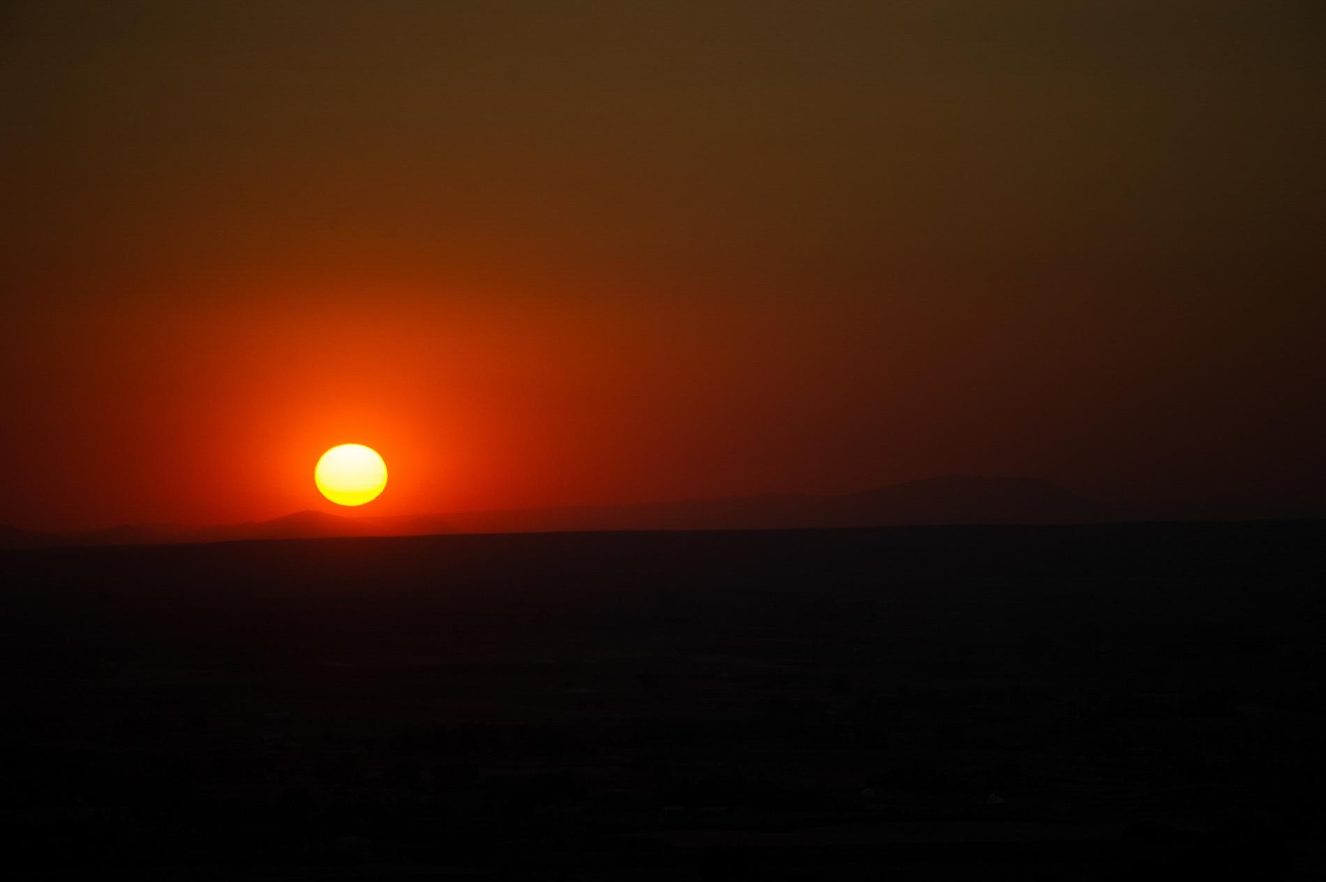 Sunset from a Chopper